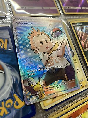 Pokemon Sophocles Full Art Holo 146/147 Burning Shadows Ultra Rare PACK FRESH!