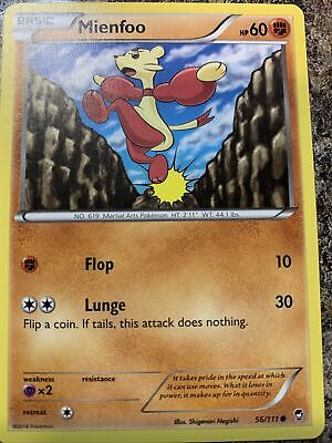 Pokemon Furious Fists Mienfoo 56/111 Common - Excellent Condition