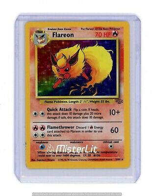 1999 Pokemon Jungle Flareon #3 Holographic ***near Mint, Great Condition!!!***