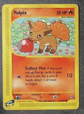 Vulpix Pokemon TCG Non Holo 116/147 Aquapolis Used NM Common 2002 Fire Type