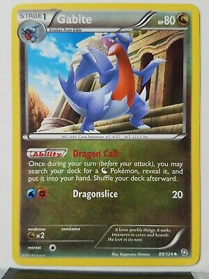 Gabite 89/124 - LP - Dragons Exalted Pokemon Card - $1 Combined Shipping