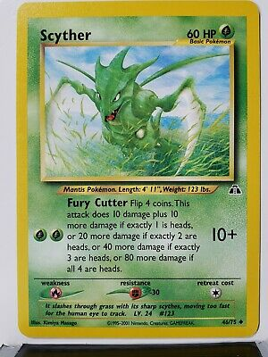 Scyther 46/75 - VLP / NM - Neo Discovery Pokemon Card - $1 Flat Shipping