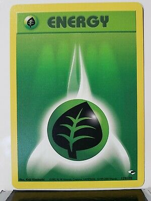 Grass Energy 129/132 - VLP - Gym Heroes 2000 Pokemon Card - $1 Combined Shipping