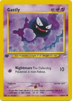 Gastly - 65/105 - Common 1st Edition Played 1st Ed Neo Destiny Pokemon 2B3