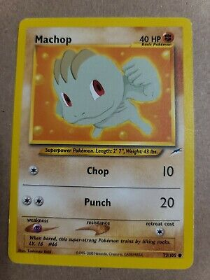 Pokemon TCG - Machop 73/105 Neo Destiny Unlimited Common Card