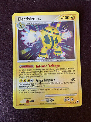 Electivire 3/130 Holo - Rare Pokemon Card - Near Mint - Diamond & Pearl