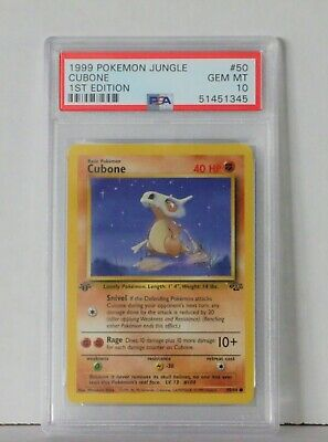 1999 Cubone Jungle 1st Edition PSA GEM MT 10 50/64 Common Pokemon Card