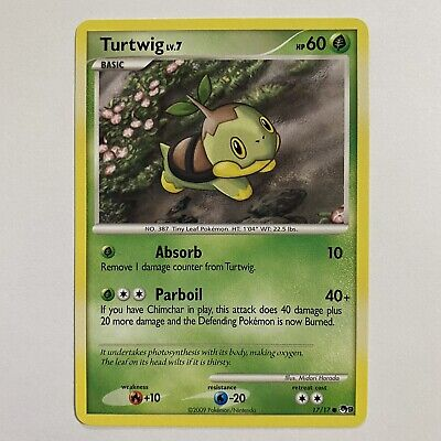 Turtwig 17/17 Pop Series 9 Promo Common Pokemon Card - Near Mint
