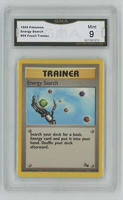 1999 Pokemon Fossil Unlimited #59 Energy Search GMA 9 Mint P77