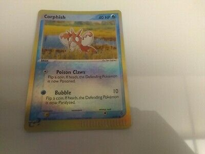 Corphish 52/97 Reverse Holo Ex Dragon 2003 Pokemon Card.