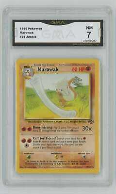 1999 Pokemon Jungle Unlimited #39 Marowak Graded GMA 7 Nm T