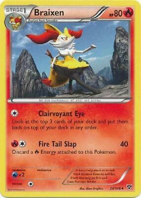 6x Braixen - 25/146 - Uncommon NM XY (Base Set) Pokemon