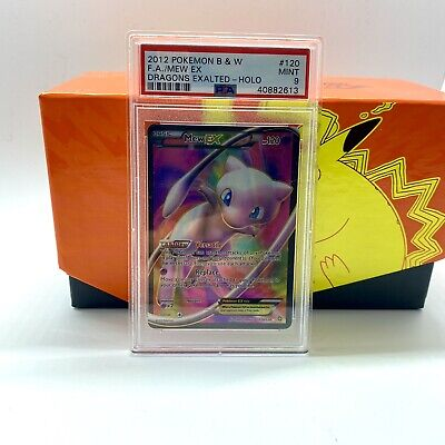 Mew EX Full Art Secret 2012 Pokemon Card 120/124 Dragons Exalted Set PSA 9 MINT