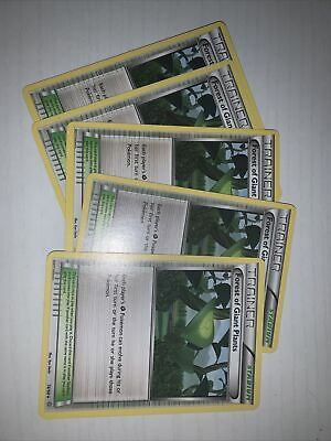 Forest Of Giant Plants Ancient Origins Non Holo 2015 Pokemon Card #74 /98; 5 pck