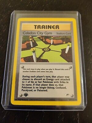 Gym Heroes 1st Ed Celadon City Gym 107/132 Pokemon (see photos for condition)