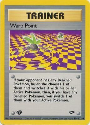 Warp Point - 126/132 - Common 1st Edition Near Mint Gym Challenge Pokemon 2GQ
