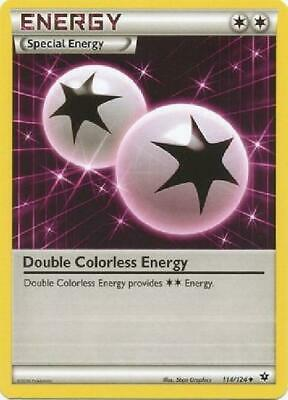 Double Colorless Energy - 114/124 - Uncommon Light Played Pokemon XY Fates 2B3