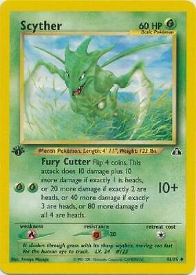 Scyther - 46/75  - Uncommon 1st Edition Near Mint Neo Discovery Pokemon