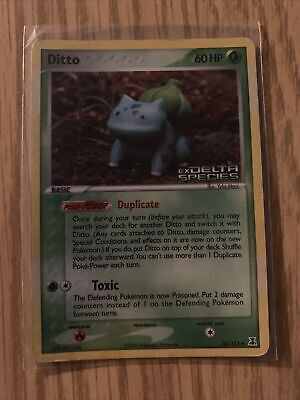 Ditto Bulbasaur 36/113 EX Delta Species Holo Stamped Pokemon Card
