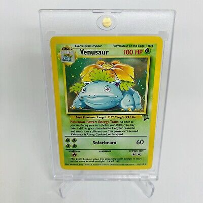 Venusaur Base Set 2 18/130 Holo Vintage Pokemon Card Very Nice