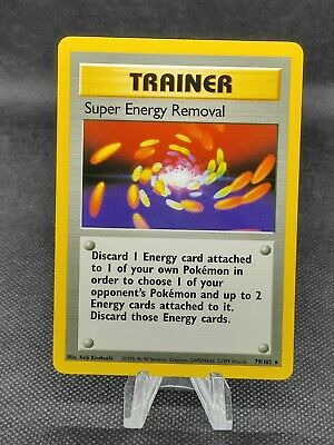 Base Set Super Energy Removal 79/102 Pokemon Card (see photos for condition)