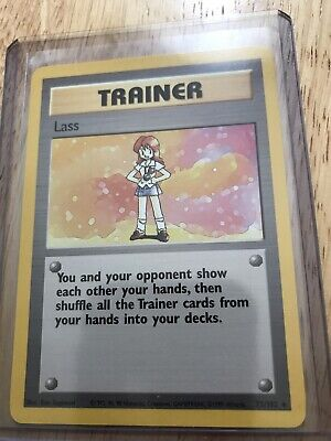 Pokemon Base Set Card Lass Trainer #75 Near Mint Never Played Ships Free In USA
