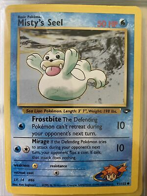 Pokemon MISTY'S SEEL 91/132 COMMON NM CARD    GYM HEROES