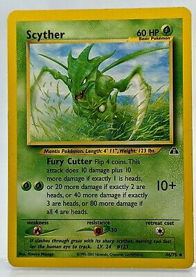 SCYTHER  46 /75 Neo Discovery  Pokemon Card 🌿 Excellent Never Played