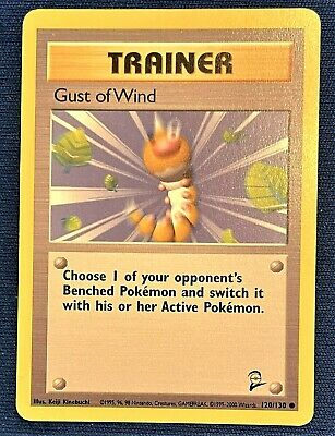 Shadowless Gust of Wind Trainer Card Pokemon Base Set 2 1999  #120