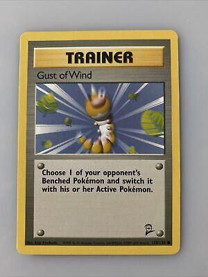 POKEMON Trainer Gust Of Wind BASE SET 2 Trading Card - 120/130