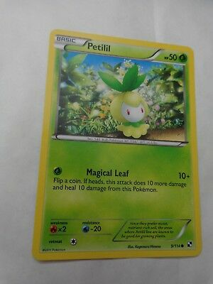 Common Petilil 9/114 Black & White Set Pokemon Card Go Mint