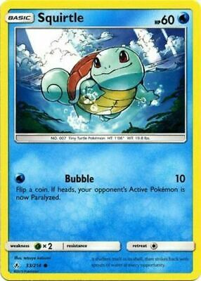 Pokemon TCG Squirtle 33/214 Sun & Moon Unbroken Bonds NM/M
