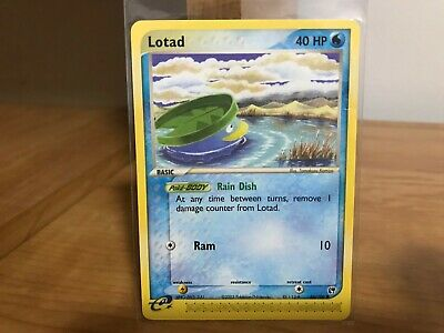 Pokemon Card Lotad 66/100 EX Sandstorm in Good Condition!