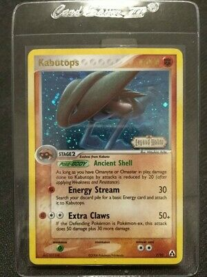 Kabutops 7/92 Holo Rare Reverse Stamped Pokemon Card MINT Legend Maker VERY RARE