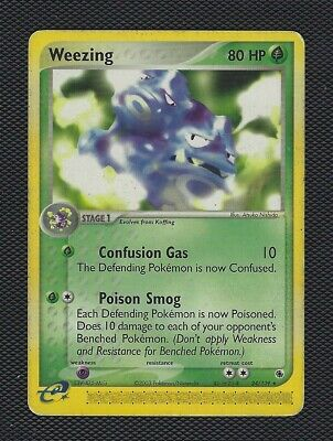 Pokemon Card Weezing 24/109 Ex Ruby And Sapphire, Type: Rare, Condition: Average