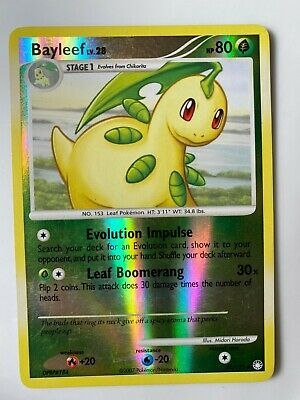 Pokemon Card Bayleef LV.28 Mysterious Treasures 41/123 NM Reverse Holo TCG