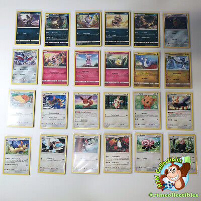 Pokemon Cards Sun and Moon Base Set Common Uncommon and Rare TCG Cards