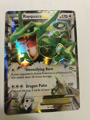 Rayquaza EX 75/108 Ultra Rare Holo NM Roaring Skies Pokemon TCG