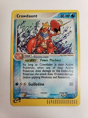 Crawdaunt 3/97 EX Dragon 2003 HOLO RARE LP Pokemon Card (104)