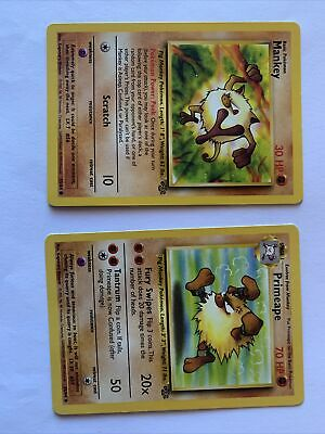 PRIMEAPE - Jungle Set - 43/64 & Mankey 55/64-Pokemon - Great condition!