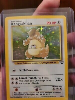 Pokemon Kangaskhan Jungle Holo Rare 5/64 NM
