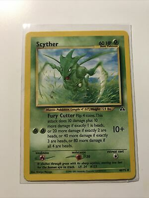 Pokemon Scyther 46/75 Neo Discovery Unlimited LP 1995-2001