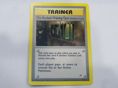 POKEMON GYM HEROES - THE ROCKET'S TRAINING GYM 104/132 Non-Holo Near Mint