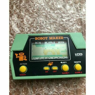 LCD ROBOT MAKER Handheld Game Takatoku Toys Game Watch Tested Ref Japan