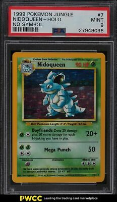 1999 Pokemon Jungle No Symbol Holo Nidoqueen #7 PSA 9 MINT