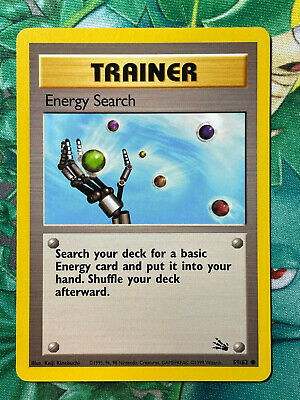 Pokemon Energy Search 59/62 Fossil Unlimited WOTC Vintage LP/MP