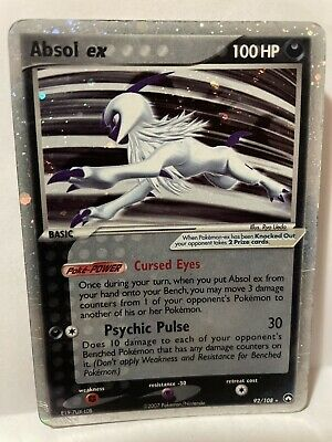 Absol EX 92/108 Power Keepers Pokemon Card *ULTRA RARE HOLO* - MP