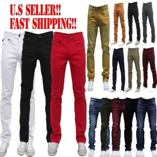 e29fa1bb MEN Jeans Slim STRETCH FIT SLIM FIT Trousers Casual Pants SKINNY AKADEMIKS  STYLE