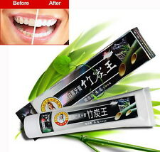 160g Bamboo Charcoal Teeth Whitening Black Toothpaste Anti Insect-resistant  @#