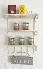 Shabby Chic Shelf Wall Unit French Vintage Cream Storage Display Kitchen Rack